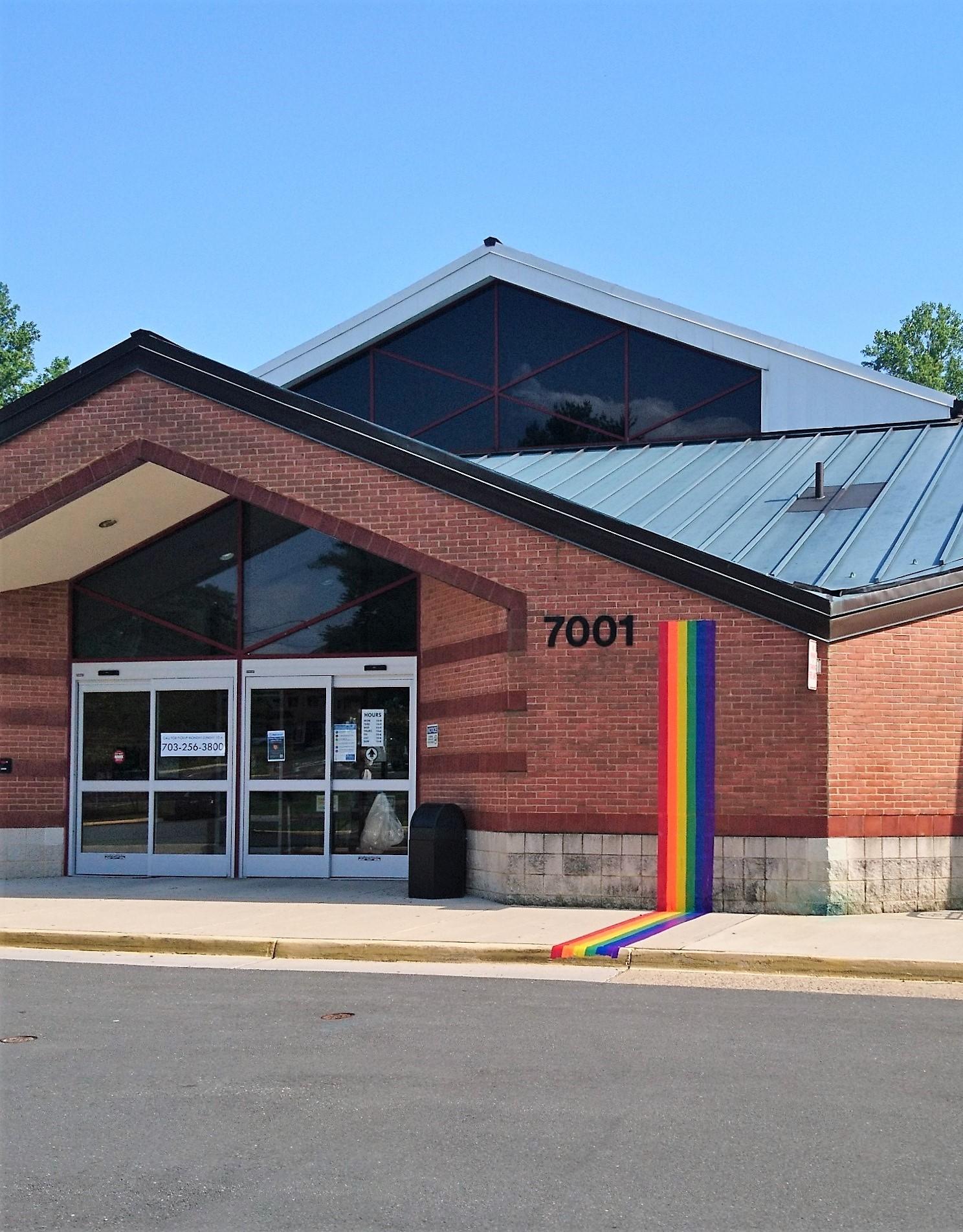 George Mason Branch with Pride Rainbow.