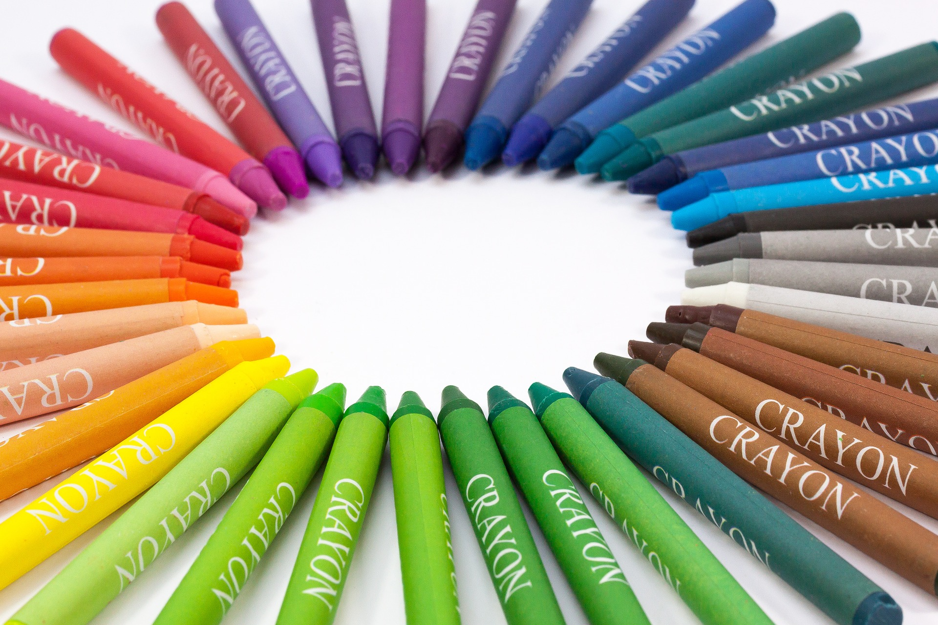 Image of multicolored crayons.