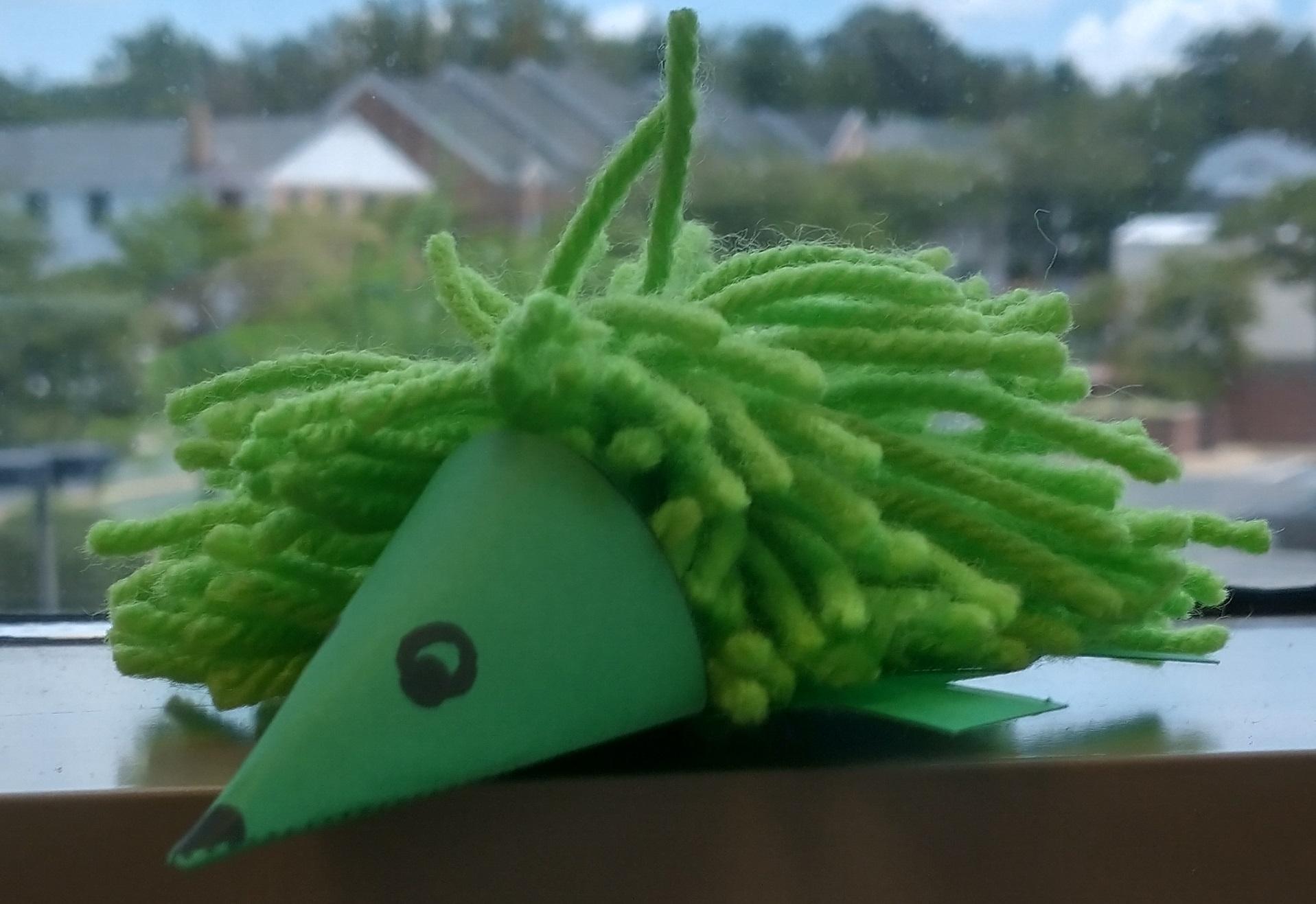 Image is a pompom hedgehog