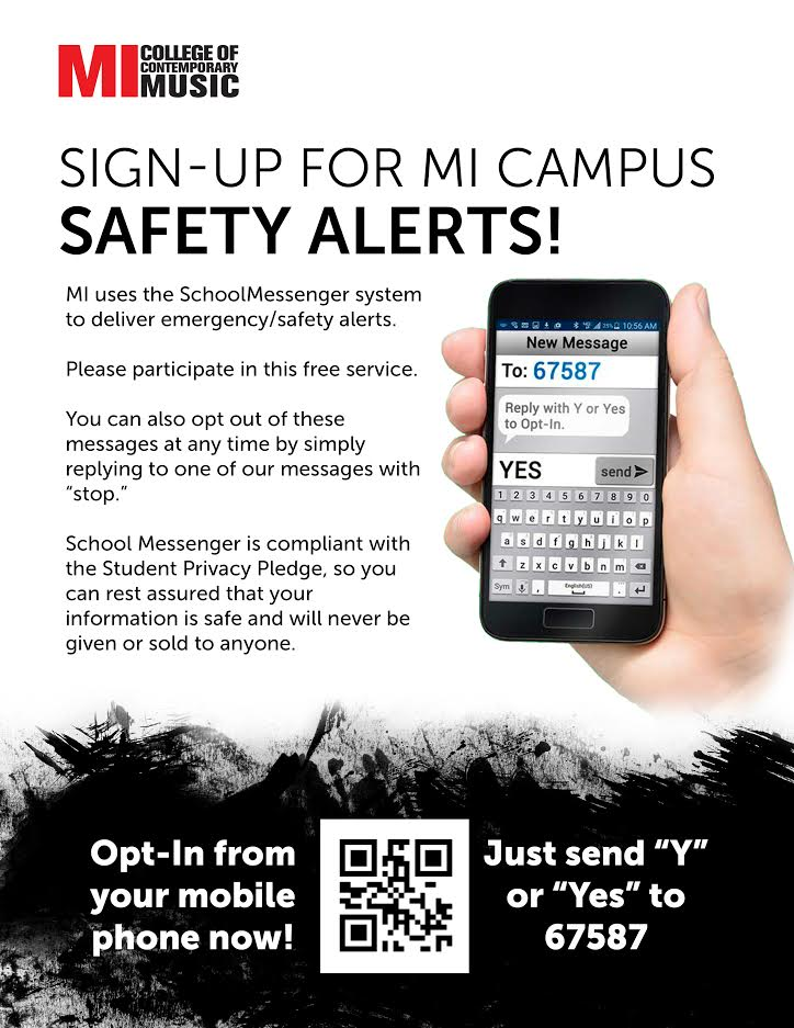 SIGN UP FOR MI CAMPUS SAFETY ALERT
