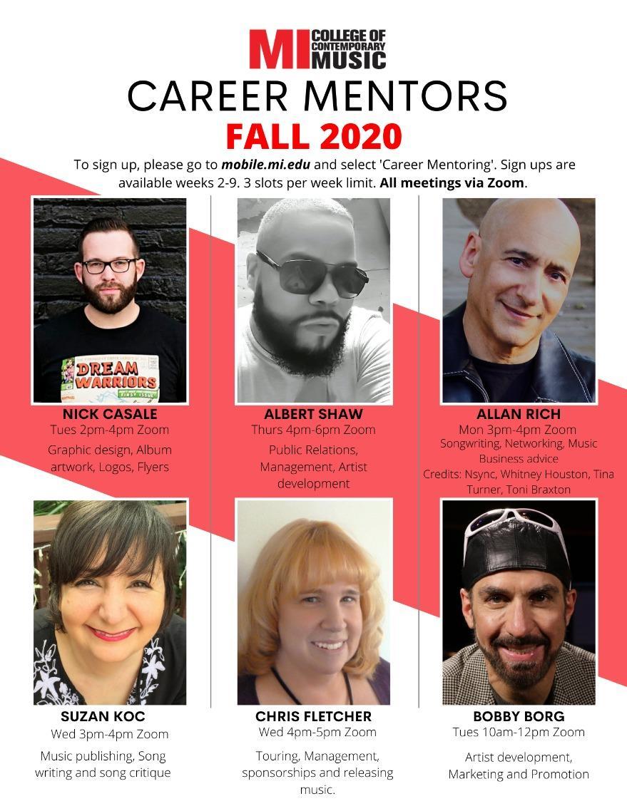 CAREER MENTORS FALL 2020 MONDAY, OCTOBER 12 – FRIDAY, DECEMBER 4, 2020