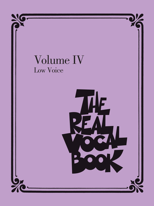 The Real Vocal Book--Volume IV Low Voice by Hal Leonard Corp.