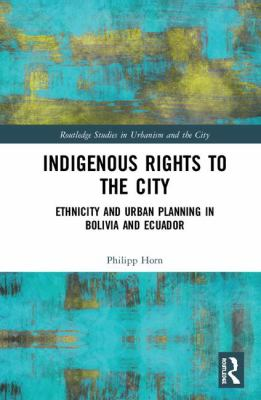 Indigenous Rights to the City book cover with blue green marble background