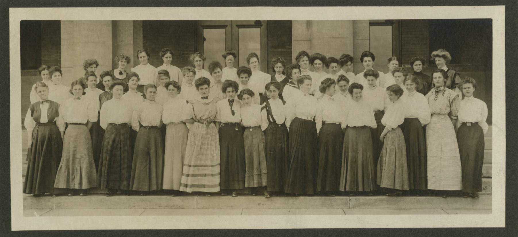 20 plus Women of the Duluth Normal School posing in the year 1902