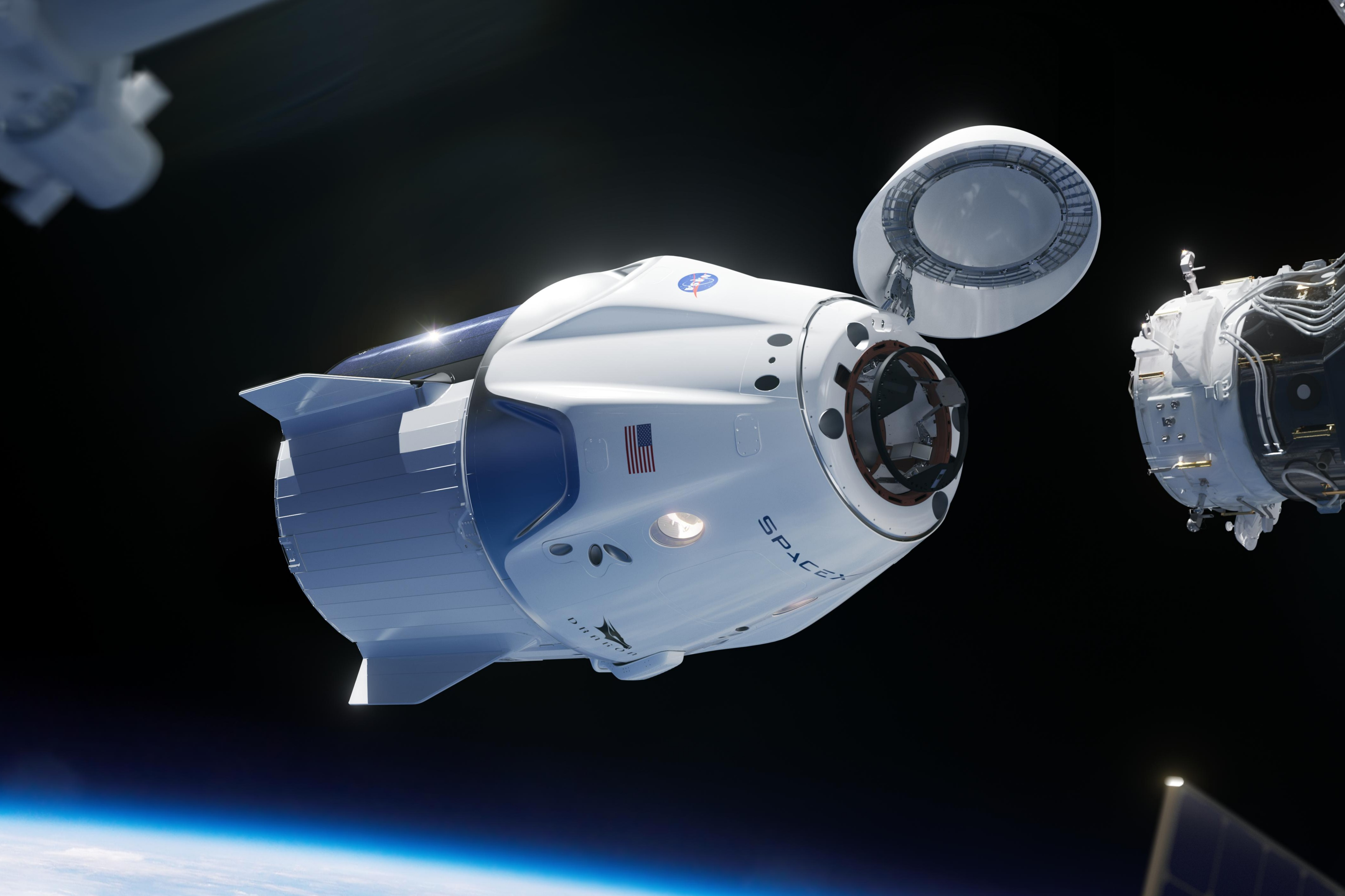 SpaceX capsule in space