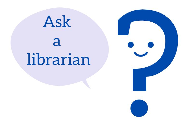 Ask a librarian graphic