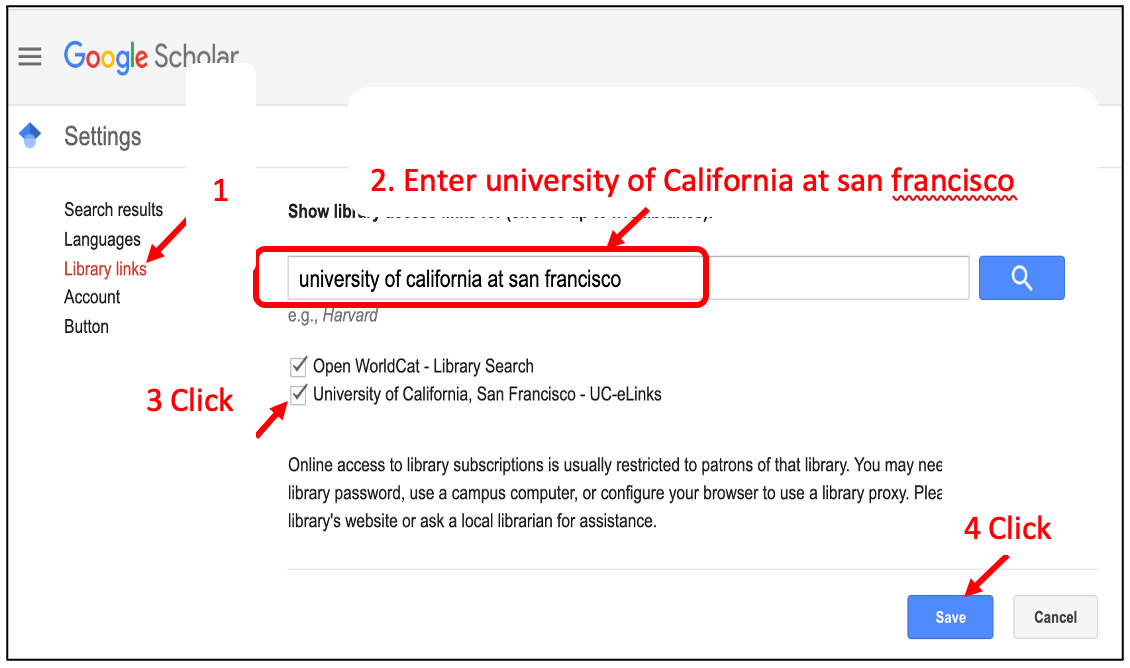 Add UC-eLinks to UCSF Library Collection