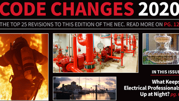 Cover of EC&M digital magazine Code Changes 2020 issue