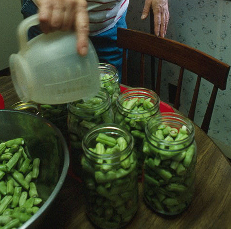 Canning string beans