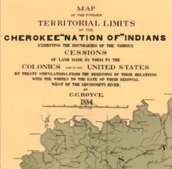 Cherokee 'Nation of' Indians