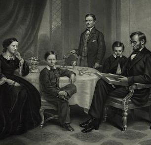 Lincoln Family 1861