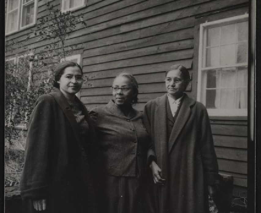 Rosa Parks and Septima Clark