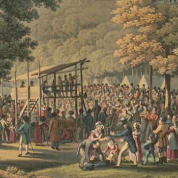 Camp meeting of the Methodists