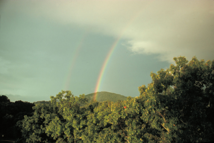 A primary and secondary rainbow, (Grant W. Goodge, NWS Collection)