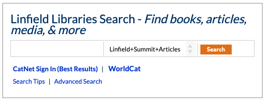 Linfield Libraries Search