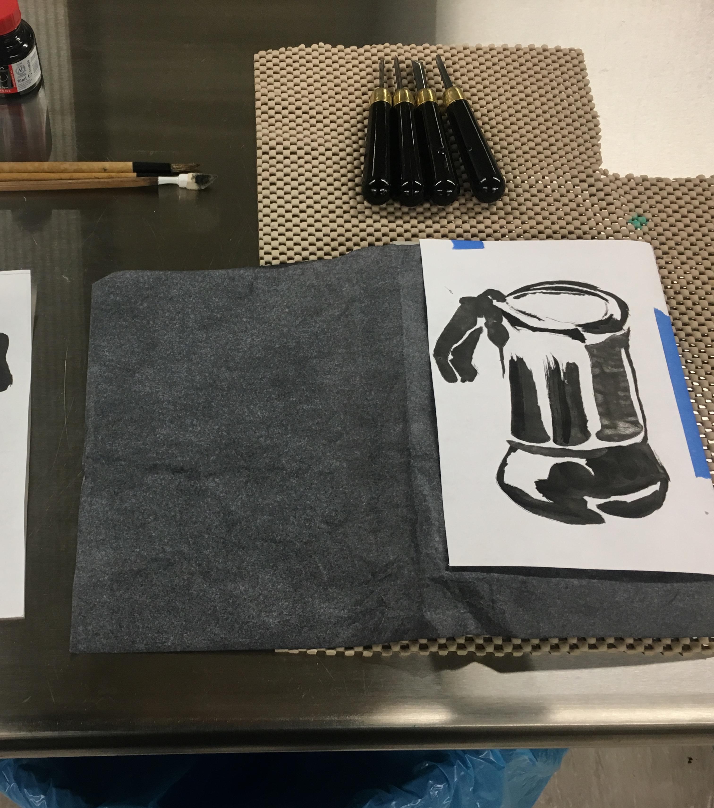 Linoleum Block Printing Workshop - Print from Home!