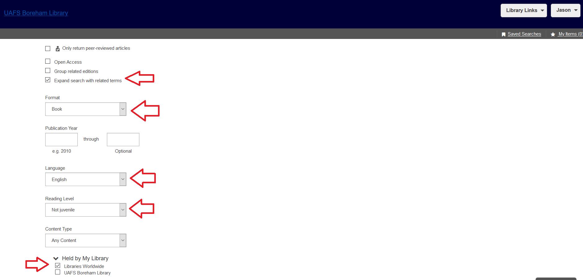 WorldCat - Search Settings
