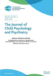 The Journal of Child Psychology and Psychiatry