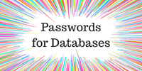 Passwords for Databases