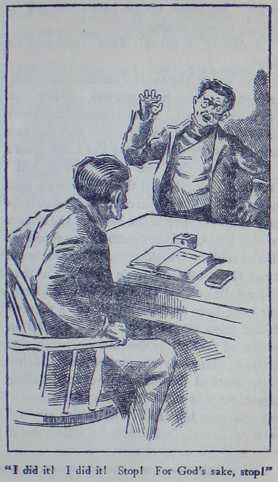 """Illustration from """"The True Stories of Celebrated Crimes. Adventures of the World's Greatest Detectives."""""""