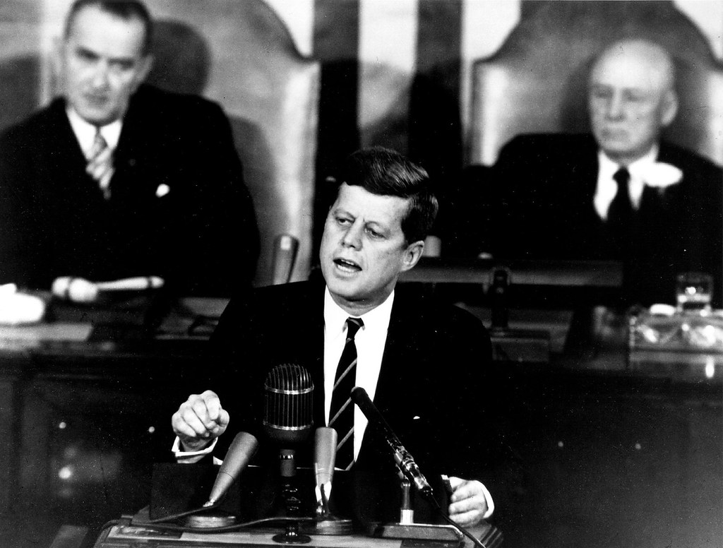 JFK making a speech