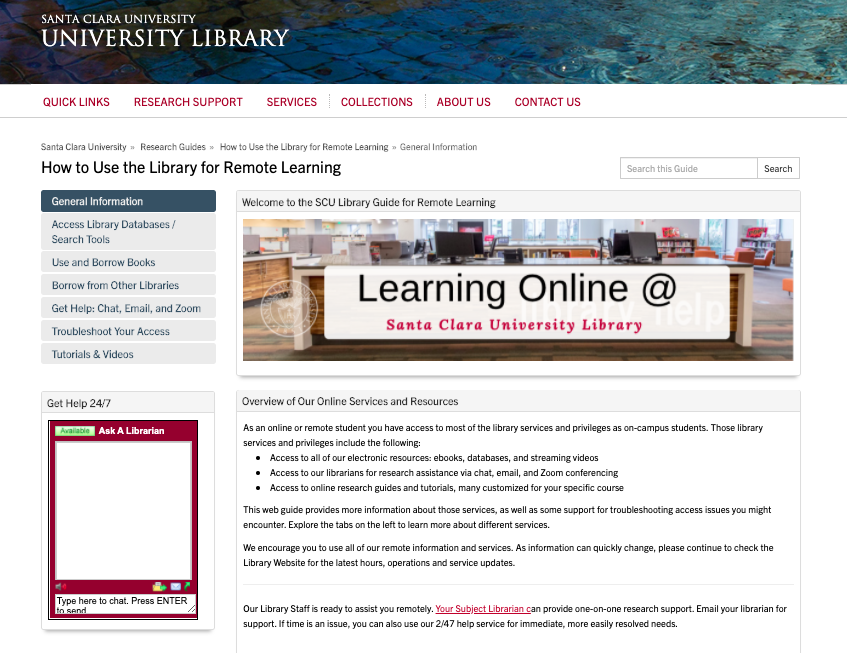 How to Learn Remotely with the Library