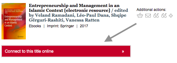 """Image of a sample title called """"Entrepreneurship and Management in an Islamic Context""""."""