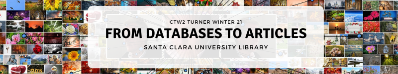 """Welcome to the Library Workshop for Prof Turner, called """"From Databases to Articles""""."""