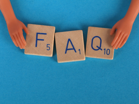 Game letters spelling 'FAQ'