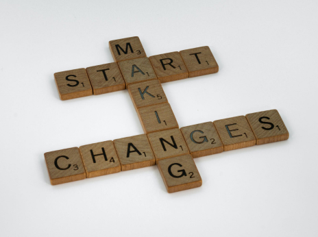 Game letters spelling 'making smart changes'