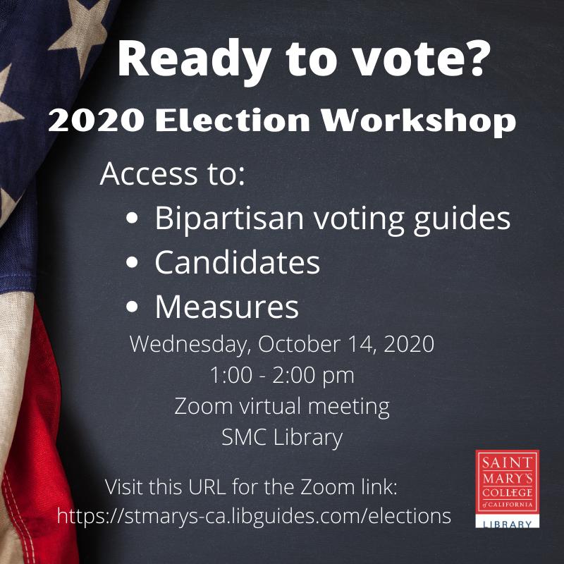 2020 Election Workshop flyer