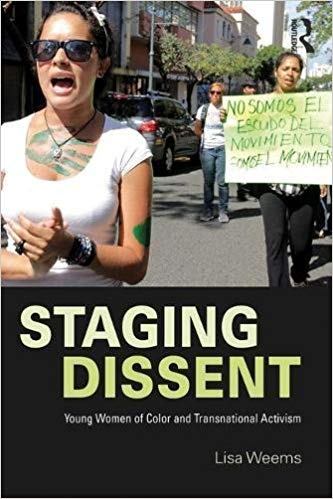 book cover for staging dissent