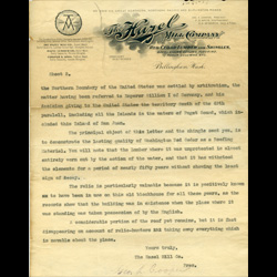 Letter discussing shingles