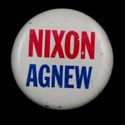 Campaign button for Nixon/Agnew