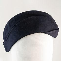 Navy hat, women's dress hat