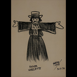 Herb Hake drawing of Father Marquette