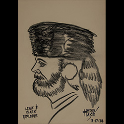 Herb Hake drawing of Lewis and Clark