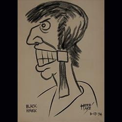 Herb Hake drawing of Chief Black Hawk