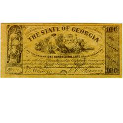 Confederate currency, $100 Georgia