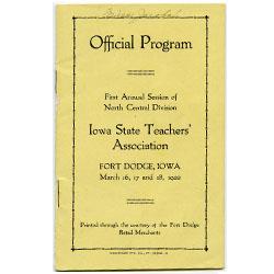 Program for Iowa State Teacher's Association