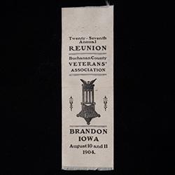 Ribbon from the Buchanan County VA 1904