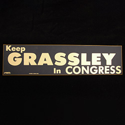 Keep Grassley in Congress, white text on blue