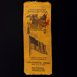 Ribbon from the Women's Relief Corps National Convention