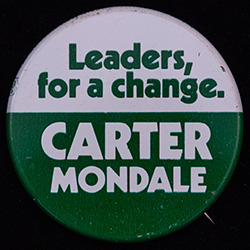 Green and white, Carter-Mondale campaign
