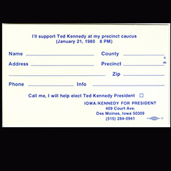 Precinct caucus ballot for Ted Kennedy
