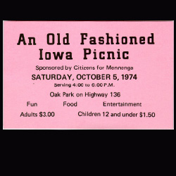 Ticket to a fundraiser picnic