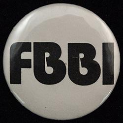 White with black text. FBBI.