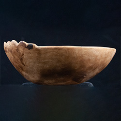 wooden bowl made from a burl