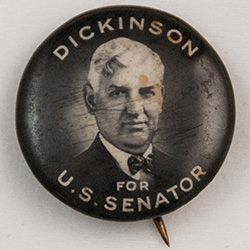 Black and white, image of Lester Dickinson