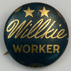 Blue and gold, Willkie Worker with two stars above
